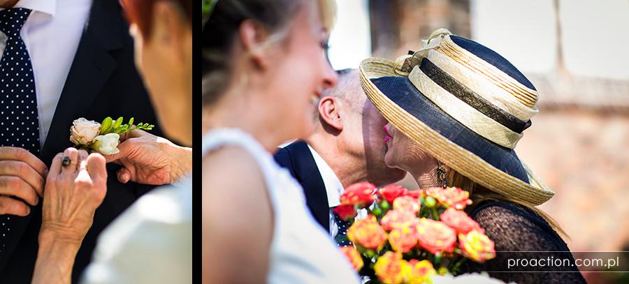 Ślub w plenerze Pałac Brzezina